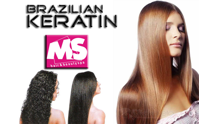 Brazilian Keratin Hair Treatment - Κούρεμα - Βερνίκι.--MS Hair.